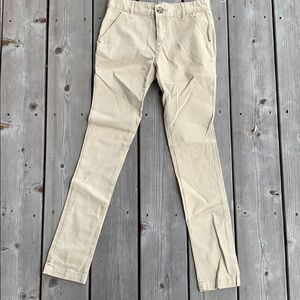 Girls skinny khaki pants